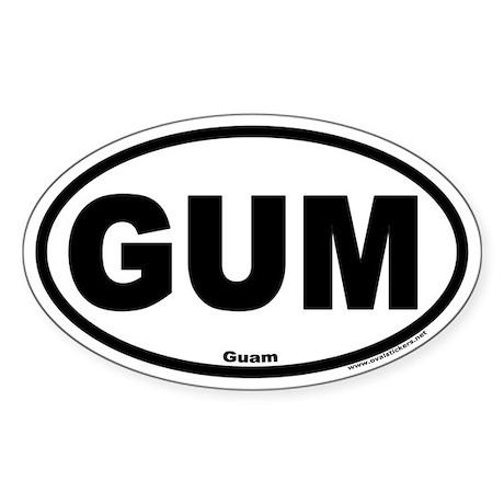 Guam GUM Euro Style Oval Sticker
