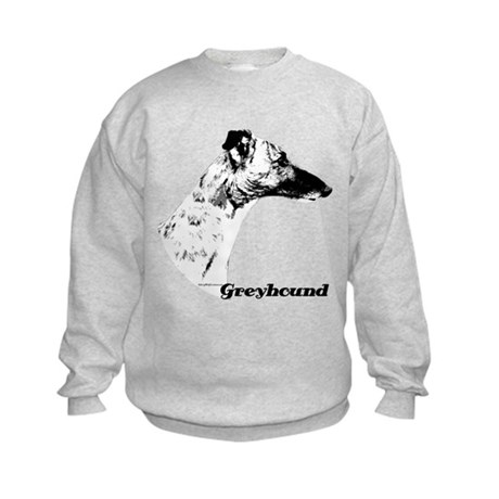 Greyhound Charcoal Kids Sweatshirt