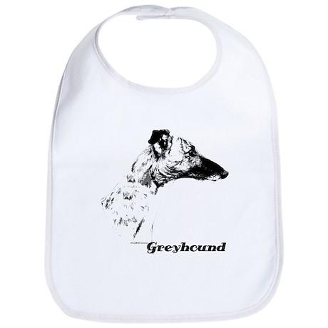 Greyhound Charcoal Bib