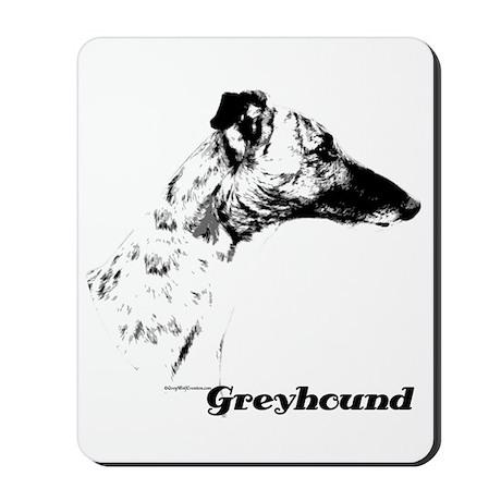 Greyhound Charcoal Mousepad