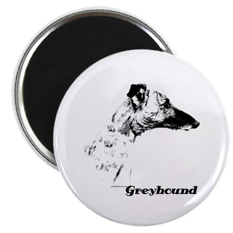 Greyhound Charcoal Magnet