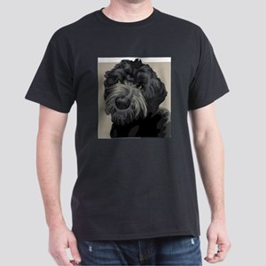 Black Russian Terrier (Front only) Dark T-Shirt