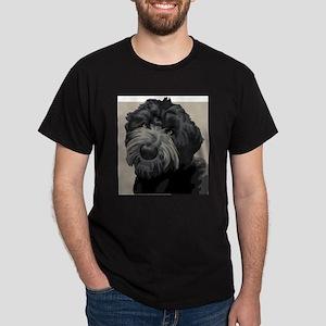 Black Russian Terrier (Front only) Dark T-Shirt
