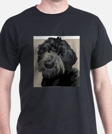 Black Russian Terrier (Front only) T-Shirt