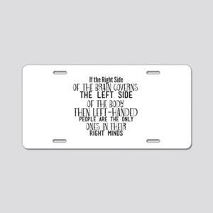 If the Right Side of the Br Aluminum License Plate