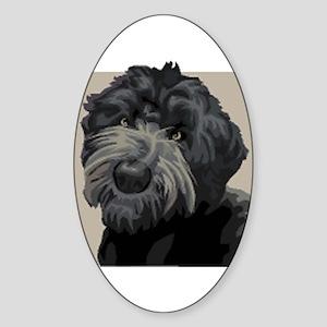 Black Russian Terrier Oval Sticker
