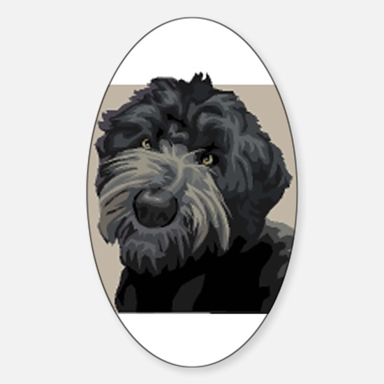 Black Russian Terrier Oval Decal