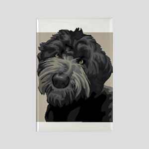 Black Russian Terrier Rectangle Magnet