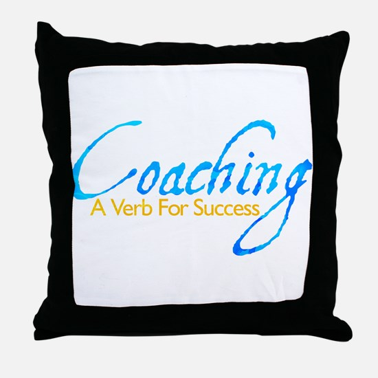 Success in Blue and Gold Throw Pillow