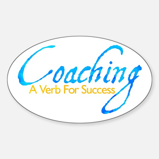 Success in Blue and Gold Oval Decal