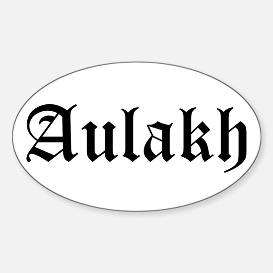 Aulakh Oval Decal