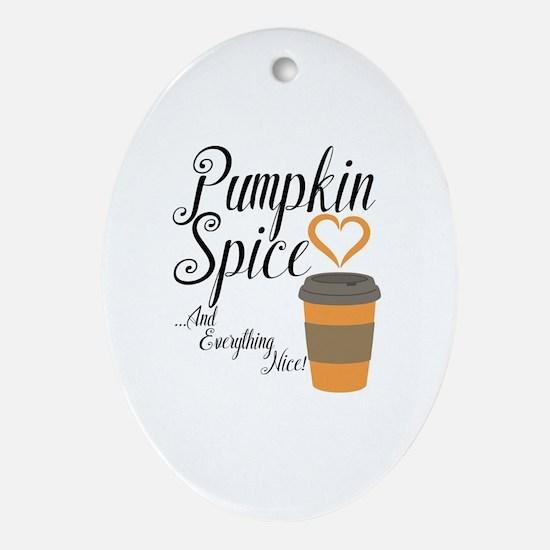 Funny Pumpkin Oval Ornament