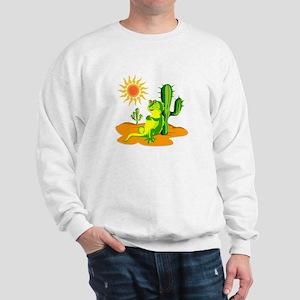 Cactus in the Desert Iguana Sweatshirt