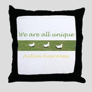 Unique Ducks Throw Pillow