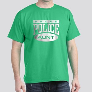 Proud Police Aunt Dark T-Shirt
