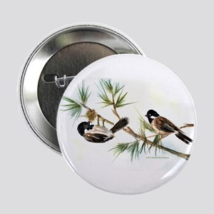 "Two Chickadees 2.25"" Button"