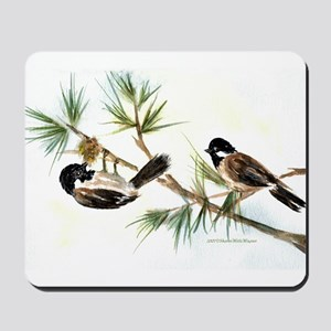 Two Chickadees Mousepad