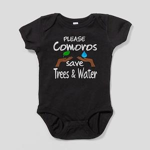 Please Comoros Save Trees & Water Baby Bodysuit