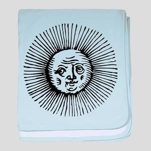 Old Sun - Blk baby blanket