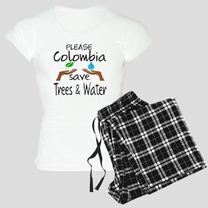 Please Colombia Save Trees Women's Light Pajamas