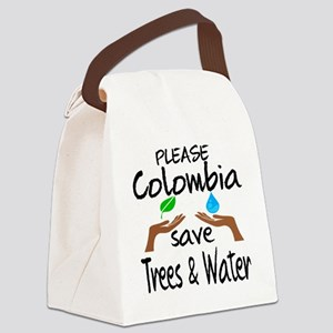 Please Colombia Save Trees & Wate Canvas Lunch Bag