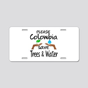 Please Colombia Save Trees Aluminum License Plate