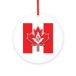 Masons Maple Leaf Ornament (Round)