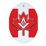 Masons Maple Leaf Oval Ornament