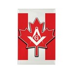Masons Maple Leaf Rectangle Magnet (10 pack)