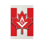 Masons Maple Leaf Rectangle Magnet
