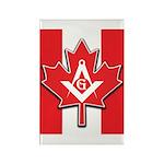 Masons Maple Leaf Rectangle Magnet