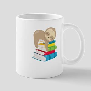 Cute Sloth Books Mugs