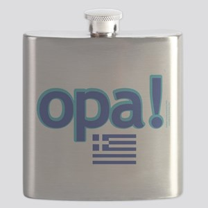 greek flag opa1 Flask