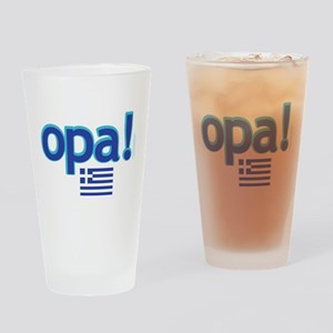 greek flag opa1 Drinking Glass