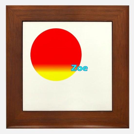 Zoe Framed Tile