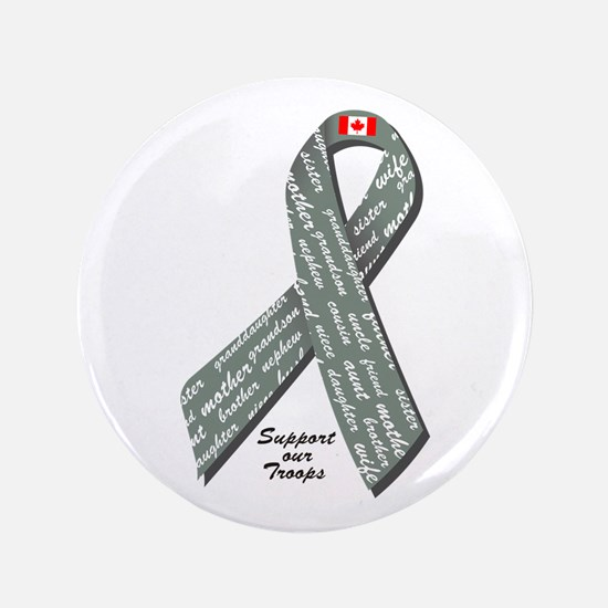 """Military Support - Canada 3.5"""" Button"""