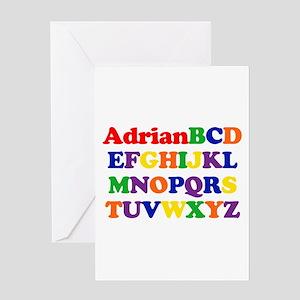 Adrian - Alphabet Greeting Card