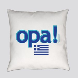 greek flag opa1 Everyday Pillow