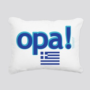 greek flag opa1 Rectangular Canvas Pillow