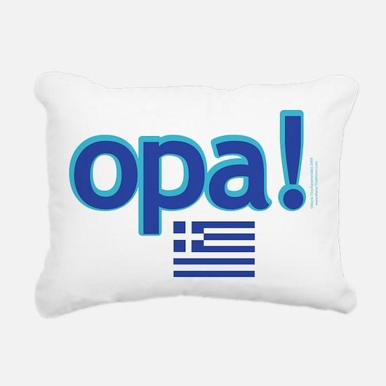 greek flag opa1.png Rectangular Canvas Pillow