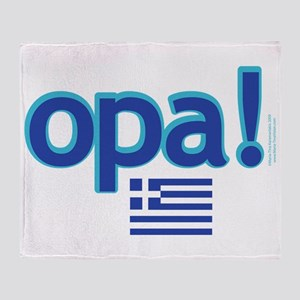 Greek Flag Opa1 Throw Blanket