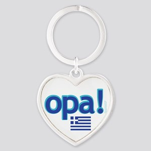 Greek Flag Opa1 Keychains