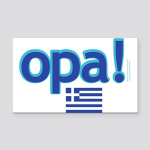 Greek Flag Opa1 Rectangle Car Magnet