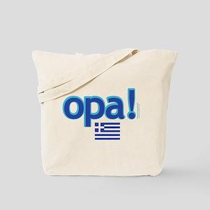 greek flag opa1 Tote Bag