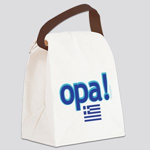 greek flag opa1 Canvas Lunch Bag