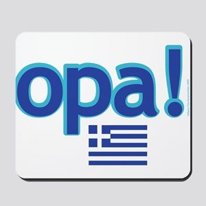 greek flag opa1 Mousepad