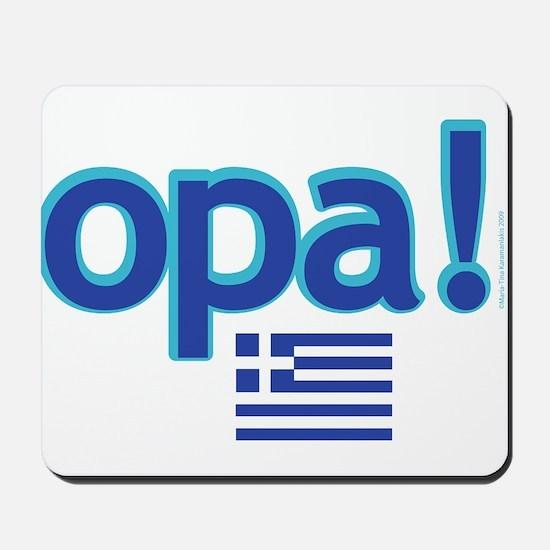 greek flag opa1.png Mousepad