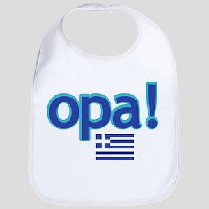 greek flag opa1 Baby Bib