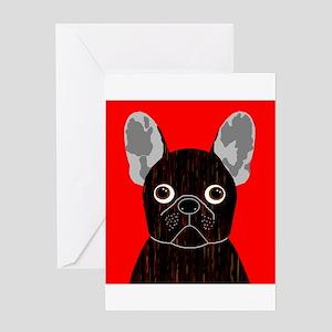 Frenchy (Dark Brindle) Greeting Card