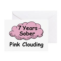 Pink Cloud 7 Greeting Cards (Pk of 20)